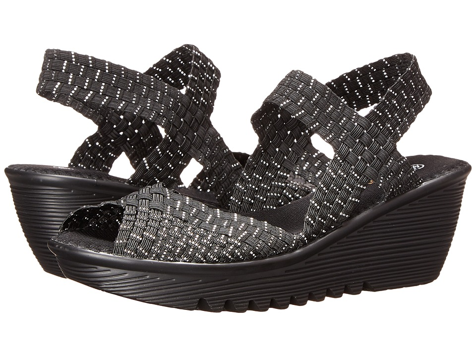 bernie mev. Fame (Black/Silver) Sandals