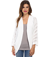 Autumn Cashmere - Pointelle Cocoon Cardigan with Back Pleat