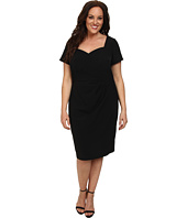 Adrianna Papell - Plus Size Origami Folded Sheath Dress