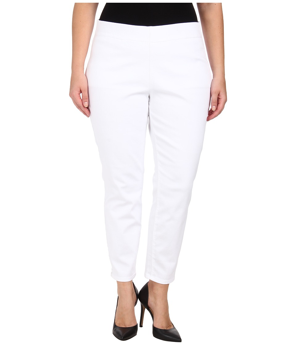 Jag Jeans Plus Size Plus Size Peri Straight in White White Womens Jeans