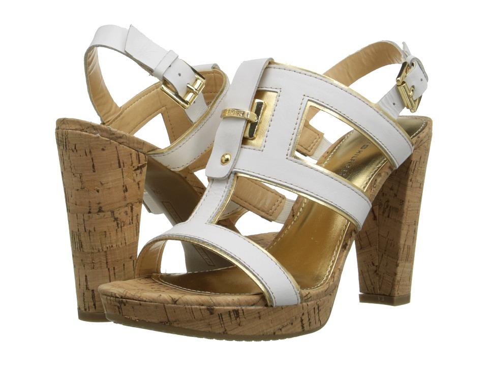 tommy hilfiger edessa white oro gold high heels. Black Bedroom Furniture Sets. Home Design Ideas