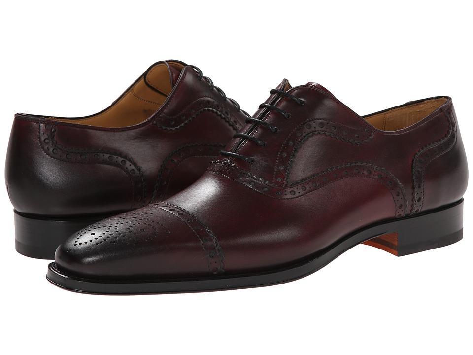 Magnanni Santiago Burgundy Mens Lace Up Cap Toe Shoes