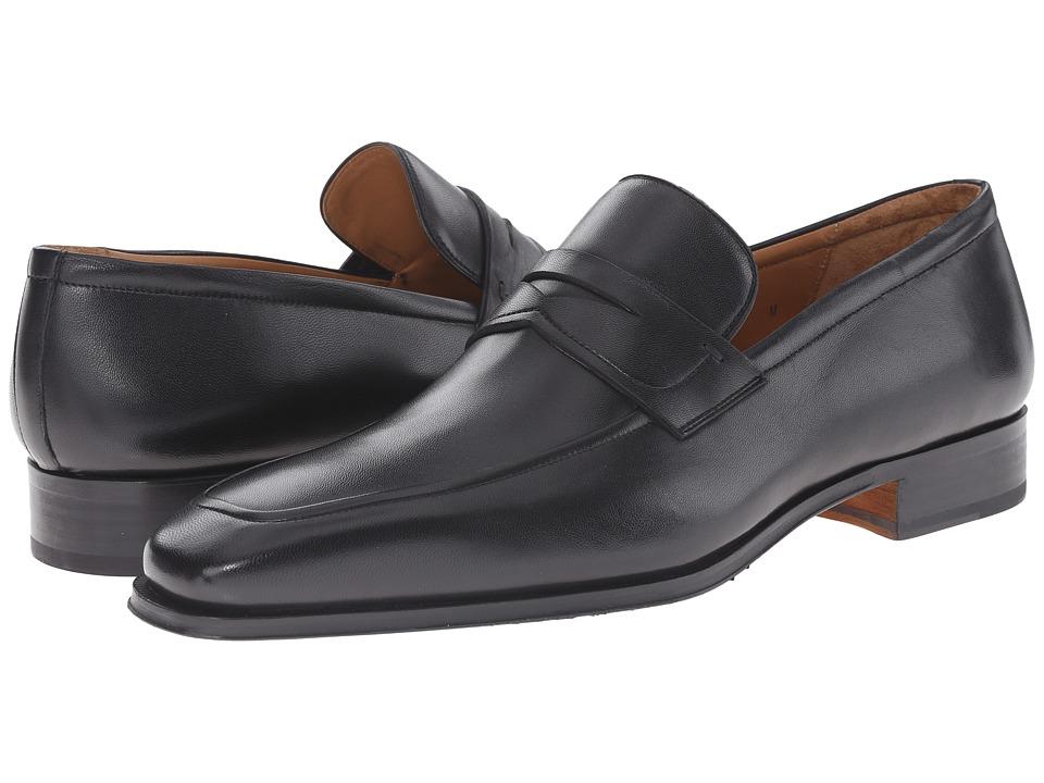 Magnanni Angel Black Mens Slip on Dress Shoes