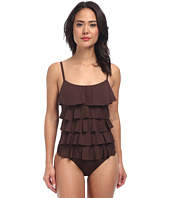 MICHAEL Michael Kors - Cascading Front Ruffle Maillot