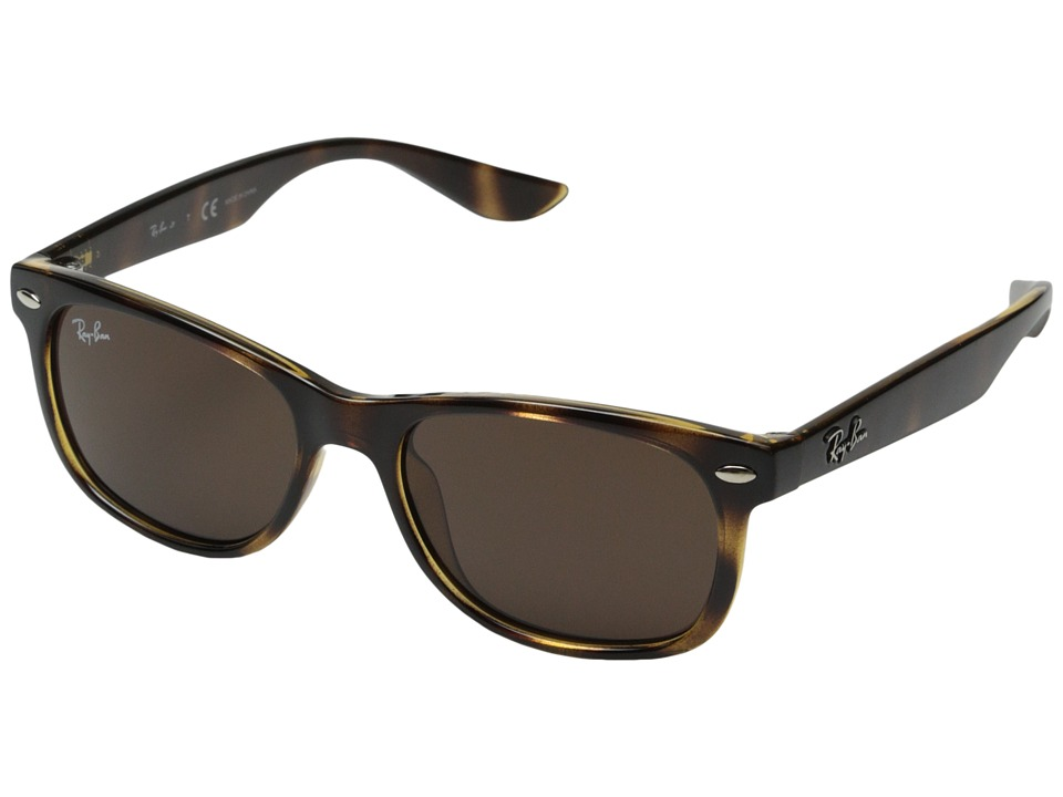 Ray-Ban Junior - RJ9052S New Wayfarer 47mm (Youth) (Tortoise) Fashion Sunglasses