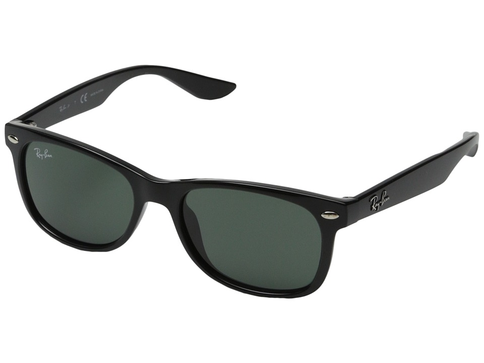 Ray-Ban Junior - RJ9052S New Wayfarer 47mm (Youth) (Black) Fashion Sunglasses