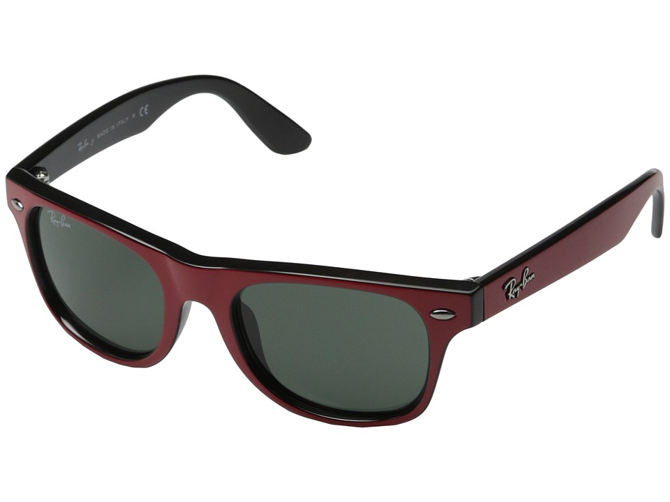 Ray Ban Junior RJ9035S Wayfarer Junior 44mm Youth Black/Red Fashion Sunglasses