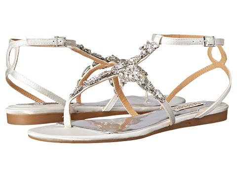Badgley Mischka - Melinda (White Satin) Women's Dress Sandals