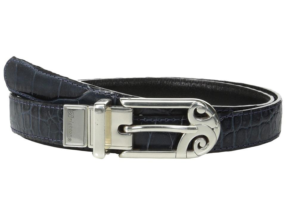Brighton - Mingle Sleek 7/8 Reversible Belt (Ink/Black) Womens Belts