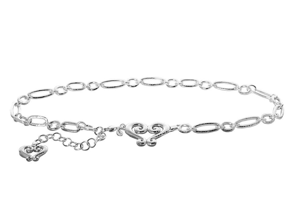 Brighton - Genoa Chain Belt (Silver) Womens Belts