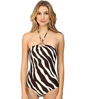 MICHAEL Michael Kors - Ghanzi Zebra Logo Ring Bandeau Maillot