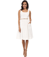 Donna Morgan - Sleeveless Scoop Neck Eyelet Dior Length