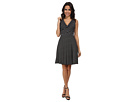Donna Morgan Wrap Bodice Fit and Flare Dress (Black)