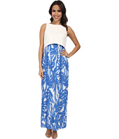 Donna Morgan - Scuba Knit Maxi with Crop Top and Pleated Chiffon Skirt