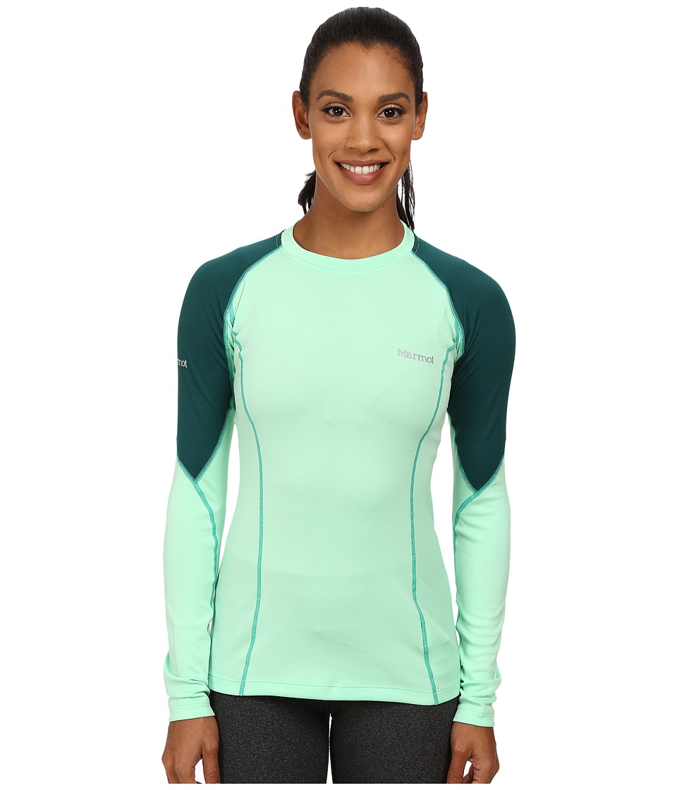 Marmot - ThermalClime Pro L/S Crew (Green Frost/Gator) Women