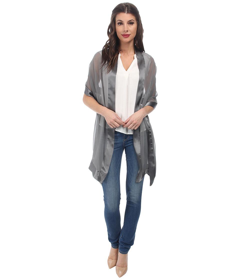 Echo Design Silk Chiffon w/Satin Border Silver Womens Clothing
