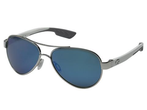 Costa Costa Loreto 580 Mirror Glass - Palladium/White Temples/Blue Mirror 580 Glass Lens