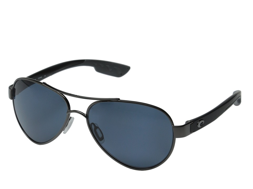Costa Costa Loreto 580 Plastic Gunmetal/Black Temples/Copper 580P Plastic Lens Fashion Sunglasses