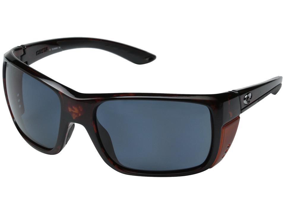 Costa Costa Rooster 580 Plastic Tortoise/Gray 580P Plastic Lens Fashion Sunglasses