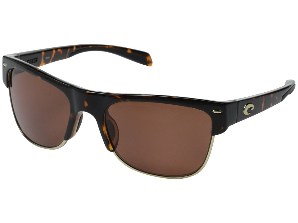 Costa - Costa Pawleys 580 Plastic (Retro Tortoise/Copper 580P Plastic Lens) Fashion Sunglasses