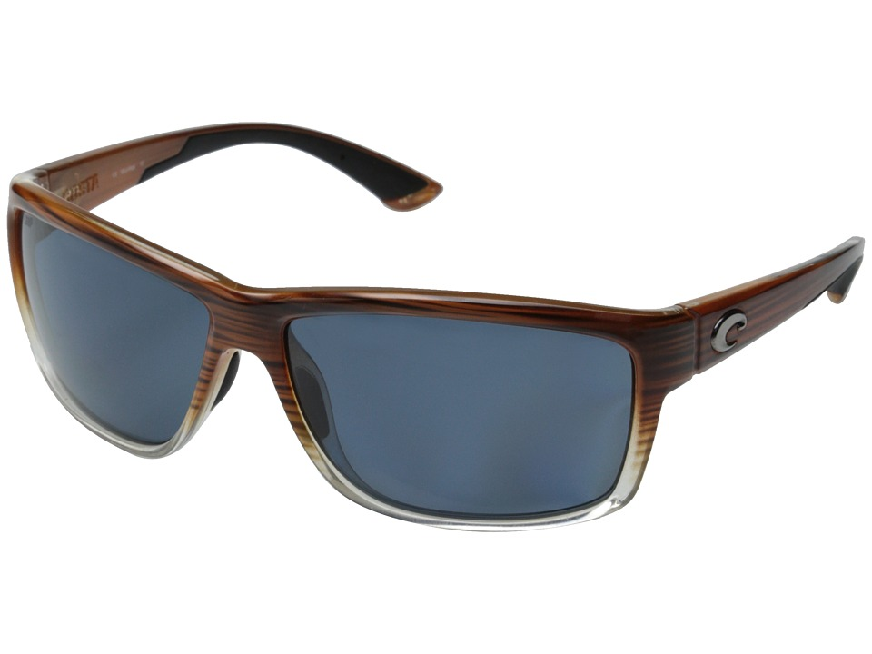 Costa - Costa Mag Bay 580 Plastic (Wood Fade/Gray 580P Plastic Lens) Fashion Sunglasses
