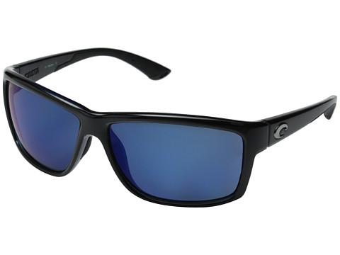 Costa Costa Mag Bay 580 Mirror Plastic - Shiny Black/Blue Mirror 580P Plastic Lens