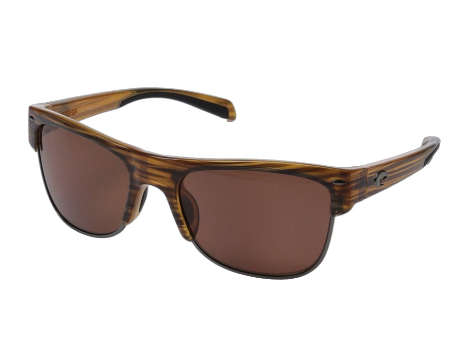 Costa Costa Pawleys 580 Plastic Teak/Copper 580P Plastic Lens Fashion Sunglasses