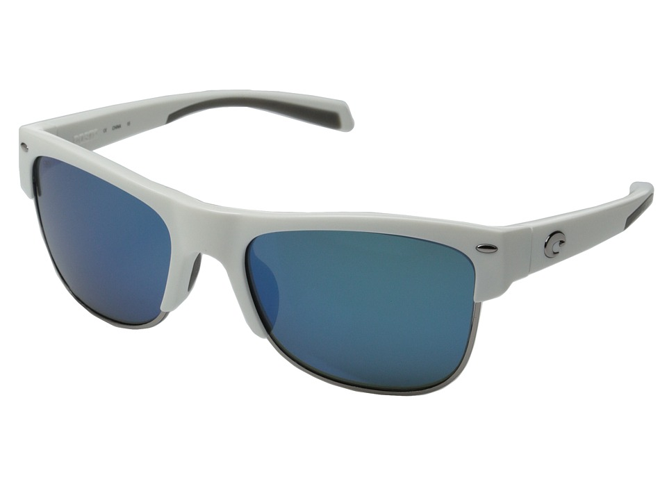 Costa Costa Pawleys 580 Mirror Glass White/Blue Mirror 580 Glass Lens Fashion Sunglasses