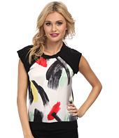 Sam Edelman - Embellished Front Raglan Back Zip Sweatshirt