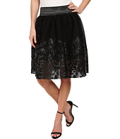 Sam Edelman - Mesh w/ Floral Applique Skirt