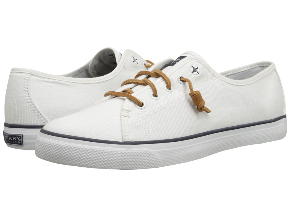 Sperry Top Sider Seacoast White Canvas Womens Lace up casual Shoes