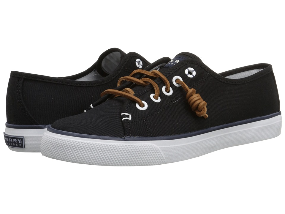 Sperry Top Sider Seacoast Black Canvas Womens Lace up casual Shoes