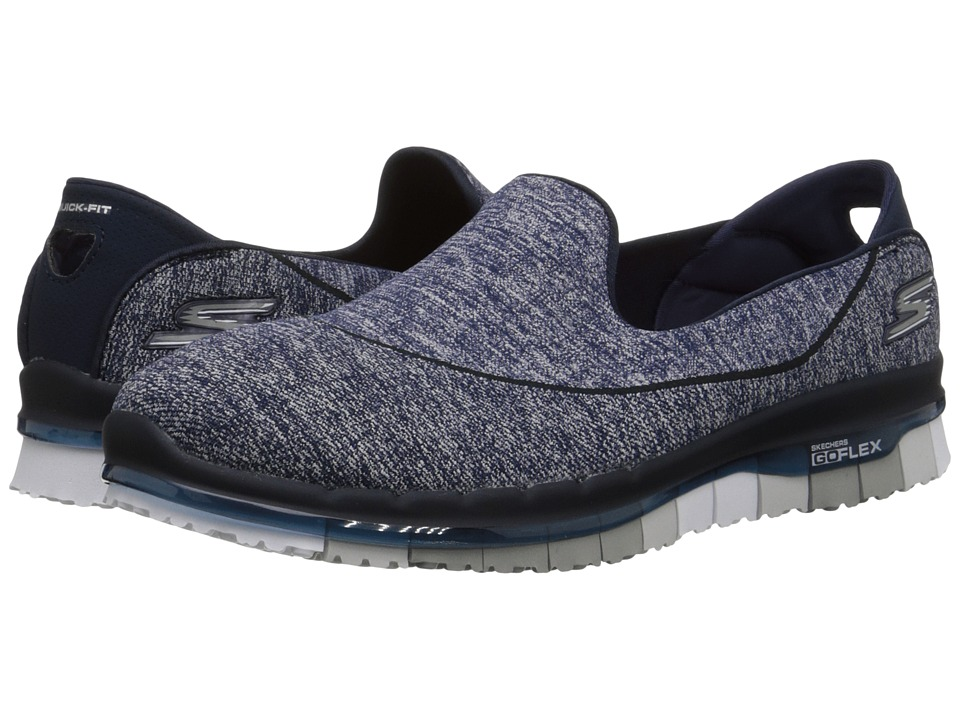 SKECHERS Performance Go Flex Navy/Gray Womens Shoes