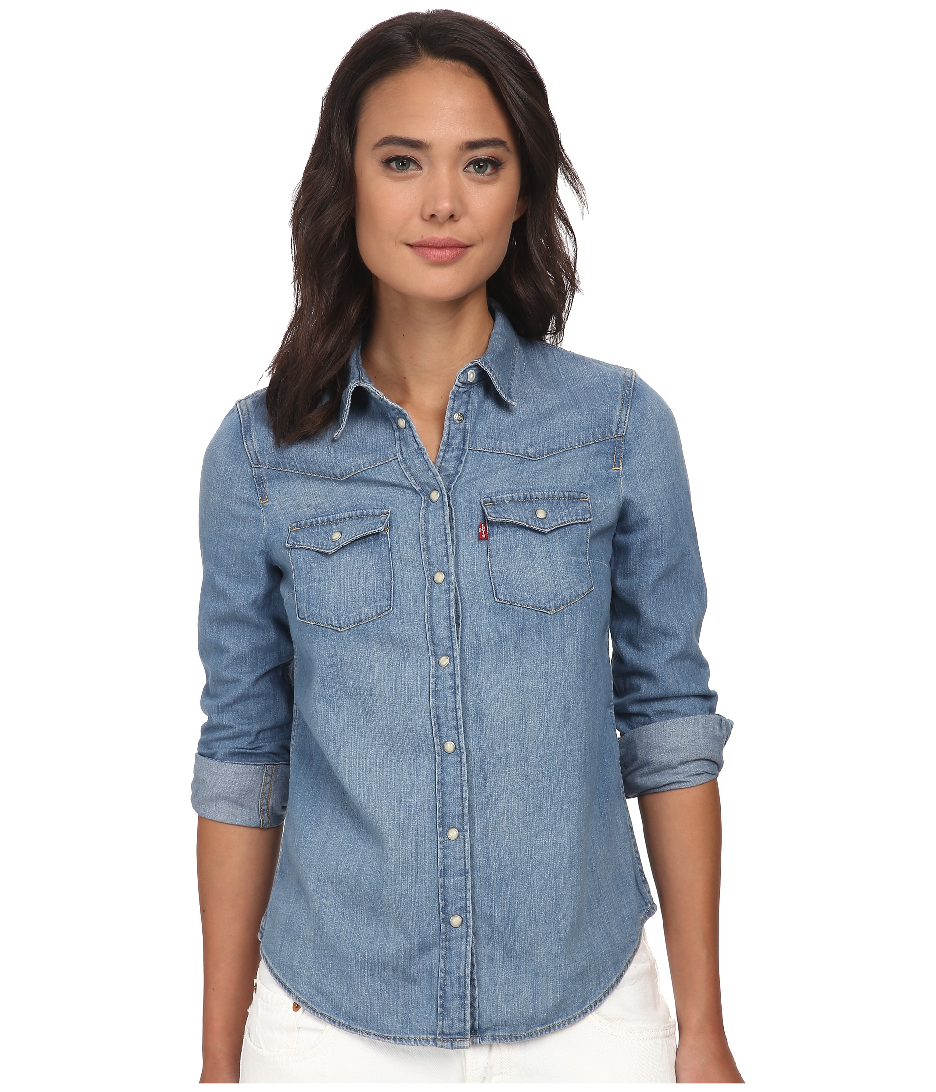 levi 39 s womens modern western shirt medium heritage. Black Bedroom Furniture Sets. Home Design Ideas