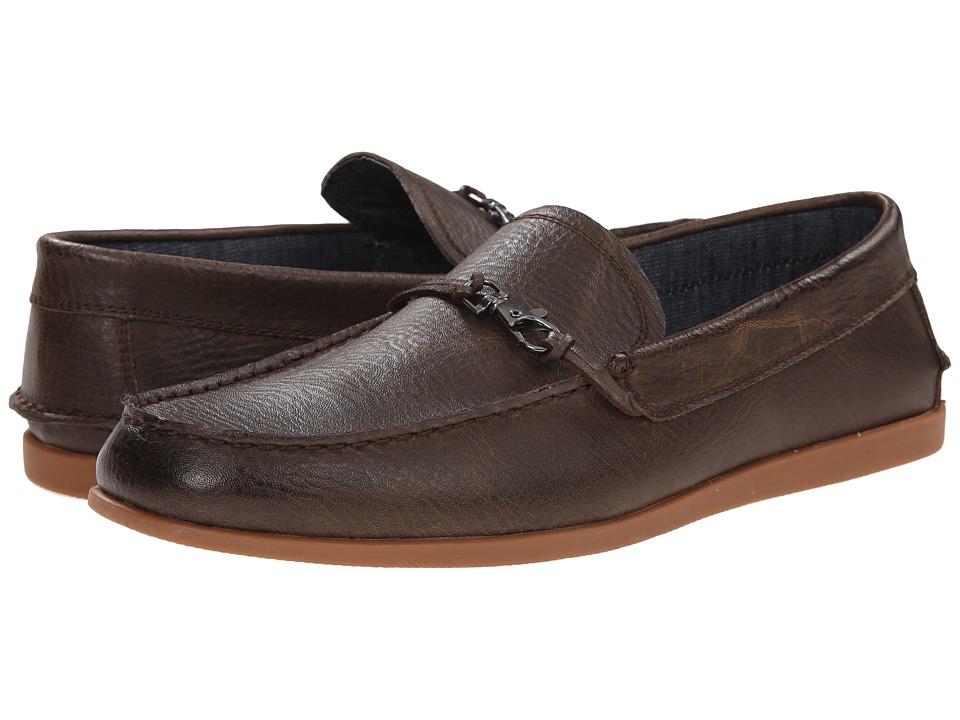 Robert Wayne Akira Textured Brown Mens Slip on Shoes