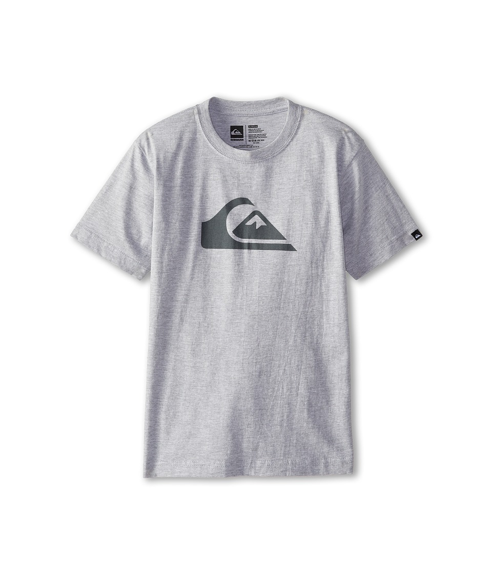 Quiksilver Kids Everyday Logo Core Tee Big Kids Grey Heather Boys Short Sleeve Pullover