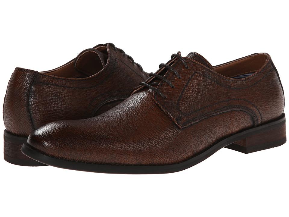 Robert Wayne Duff Rust Saffiano Mens Lace up casual Shoes