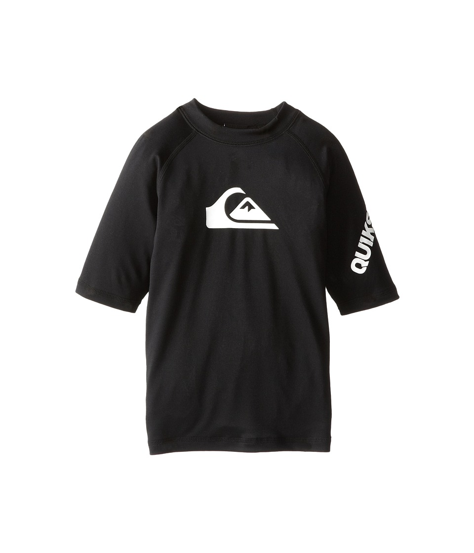 Quiksilver Kids All Time Surfshirt Rashguard Big Kids Black Boys Swimwear
