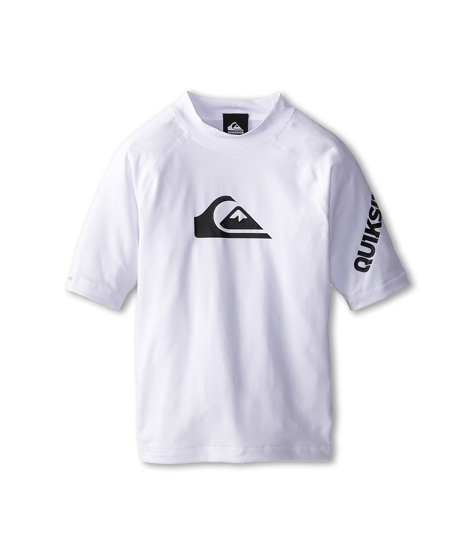 Quiksilver Kids All Time Surfshirt Rashguard Big Kids White Boys Swimwear
