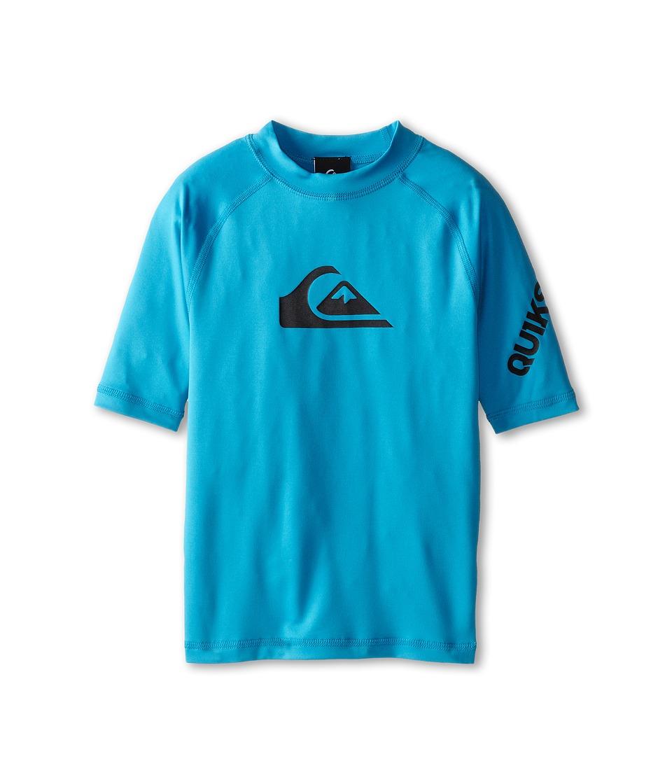 Quiksilver Kids All Time Surfshirt Rashguard Big Kids Hawaiian Ocean Boys Swimwear