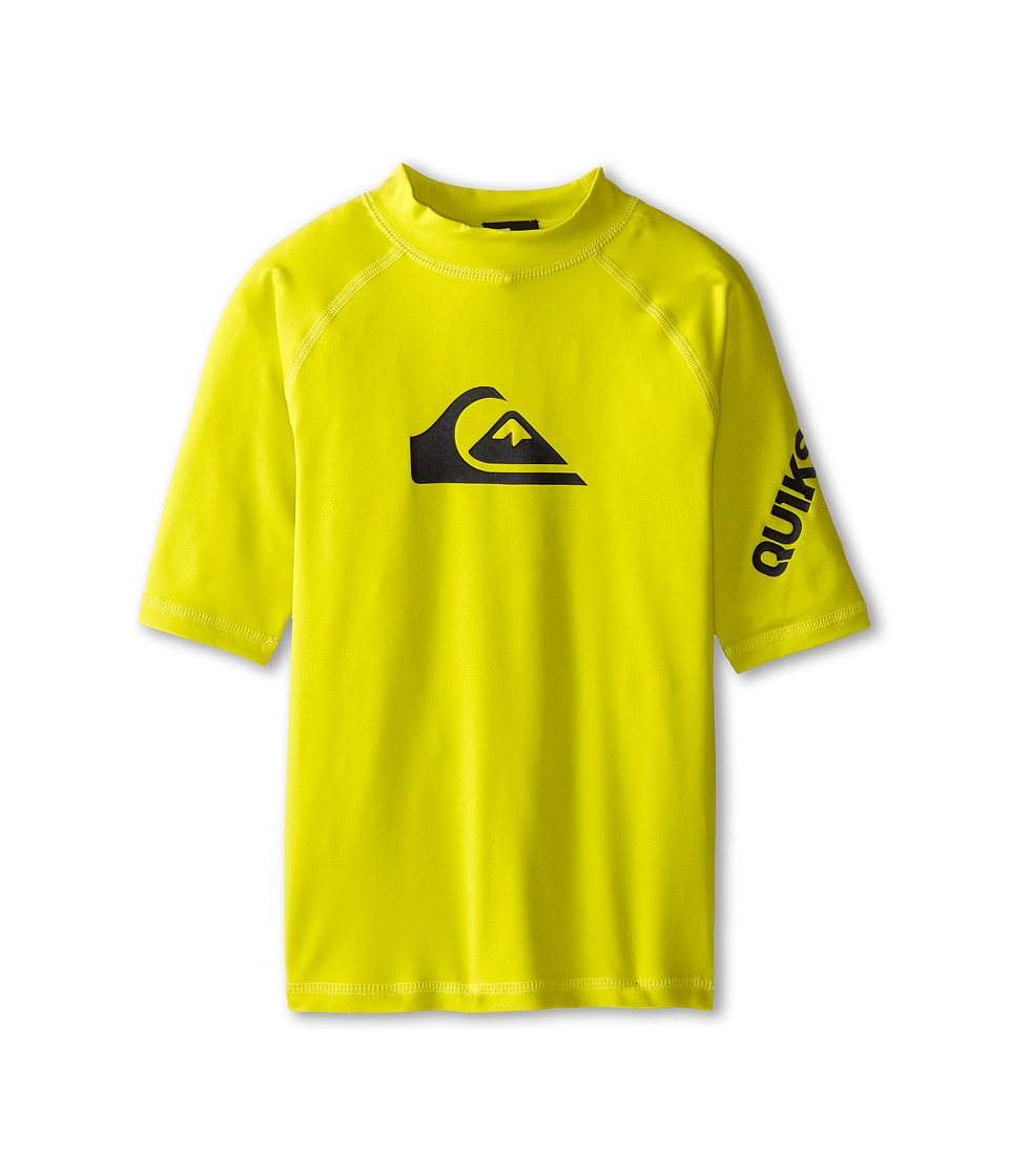 Quiksilver Kids All Time Surfshirt Rashguard Big Kids Sulphur Spring Boys Swimwear