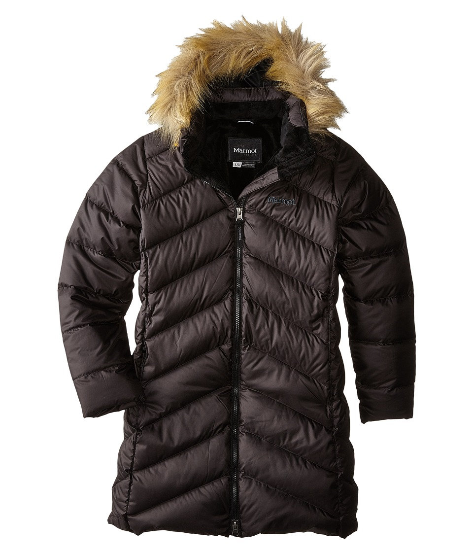 Marmot Kids - Girls Montreaux Coat (Little Kids/Big Kids) (True Black) Girls Coat