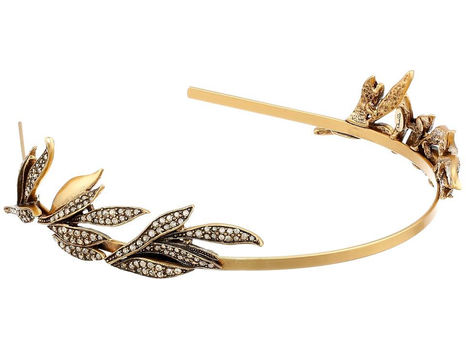 Oscar de la Renta Pave Spike Tiara Cry Gold Shadow Headband