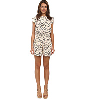Kate Spade New York - Leopard Dot Crepe Romper
