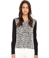 Kate Spade New York - Leopard Jacquard Panel Sweatshirt