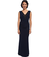 Laundry by Shelli Segal - Embellished V-Neck Gown