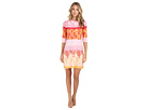 Donna Morgan 3/4 Sleeve Lace Print Jersey Shift (Parasol Multi)