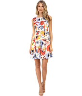 Donna Morgan - Sleeveless Floral Print Twill Fit and Flare
