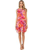 Donna Morgan - Sleeveless Chiffon Floral Print Shift
