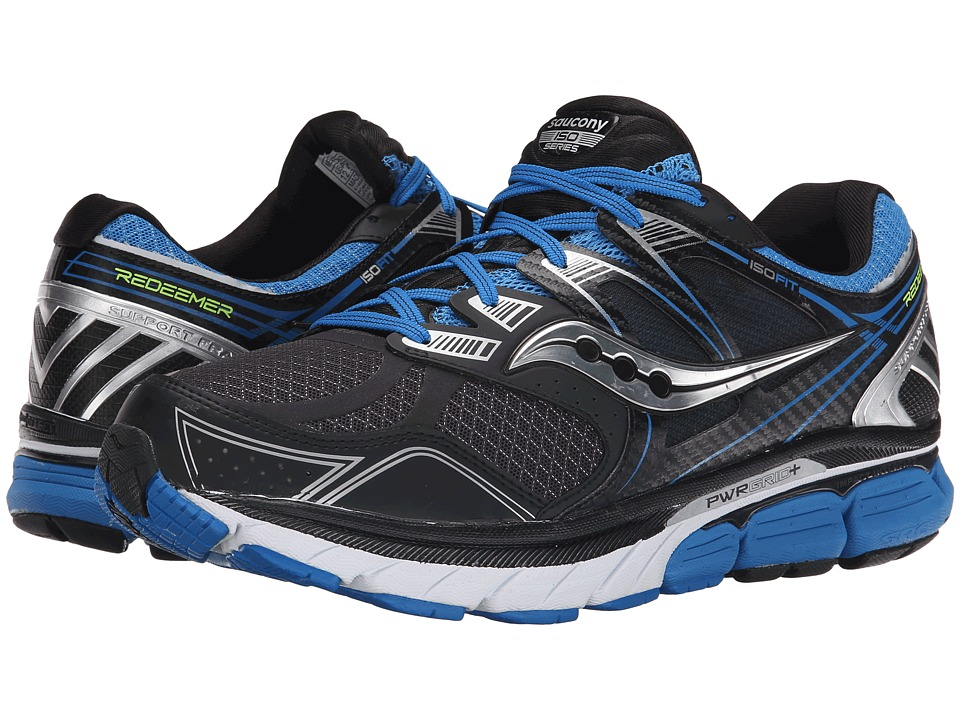 Saucony - Redeemer (Black/Blue) Mens Running Shoes